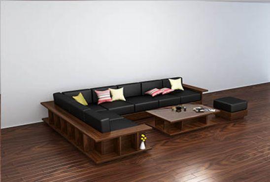 Bộ Sofa óc chó chứ L
