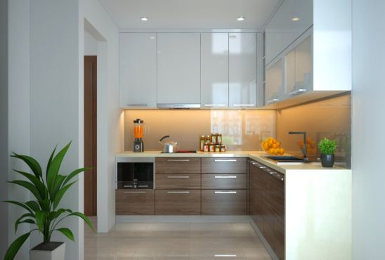 Tủ bếp gỗ Acrytic