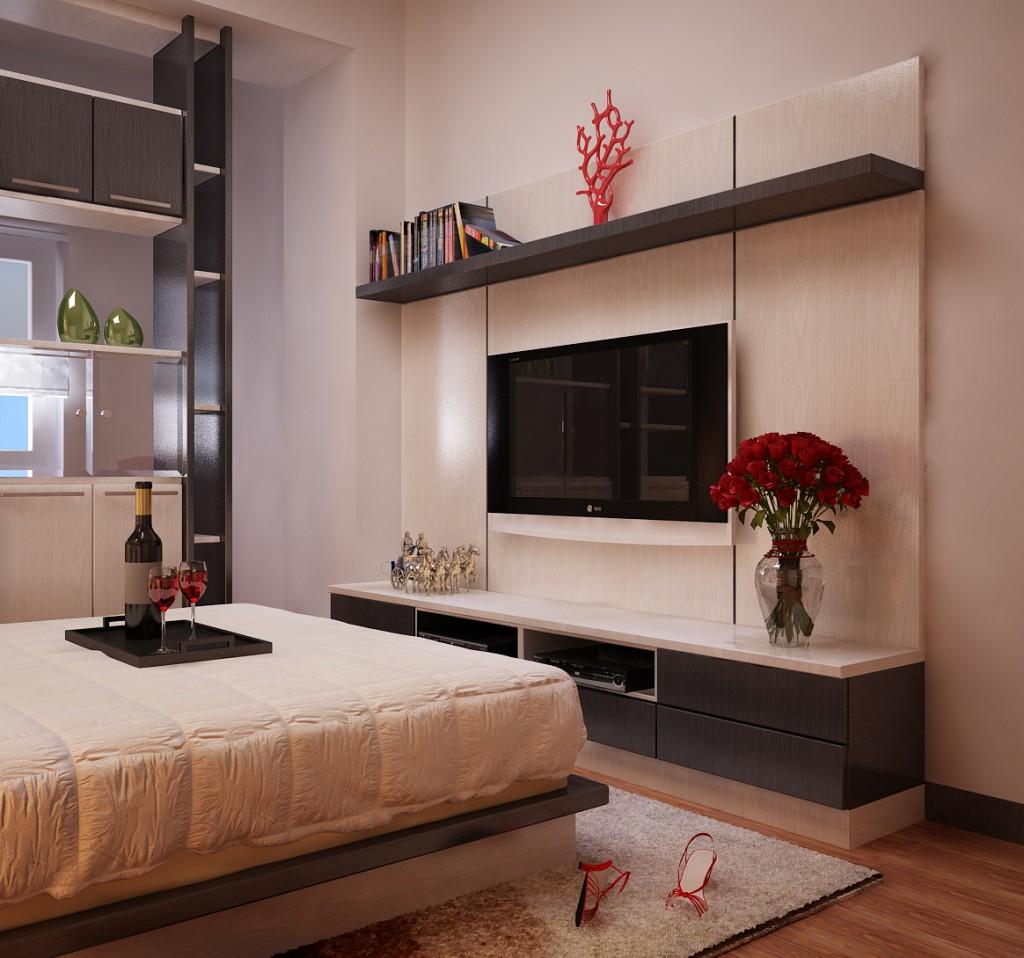 Kệ tivi đẹp sang cho phòng ngủ