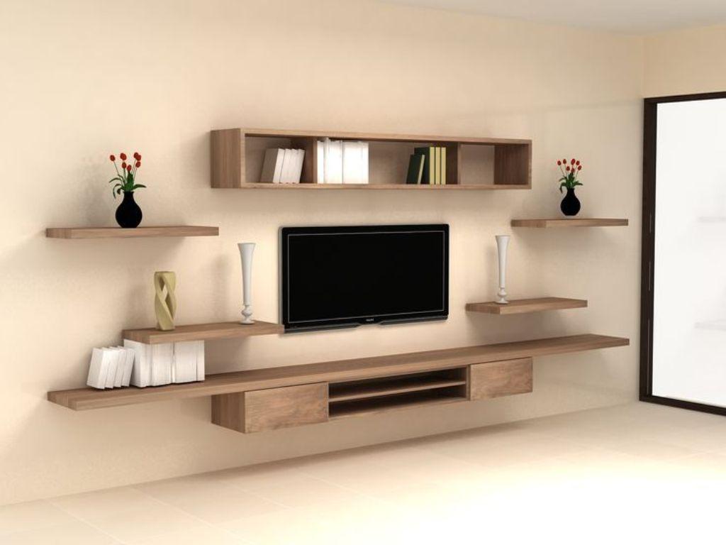Kệ tivi gỗ công nghiệp treo tường