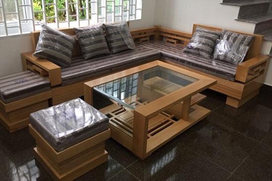 Bàn ghế Sofa gỗ sồi Mỹ